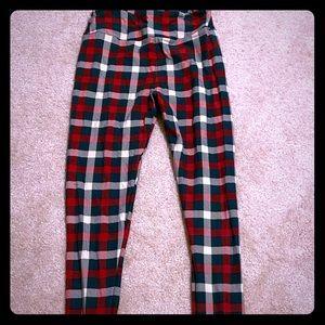 NWOT Os Lularoe plaid holiday leggings